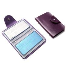 16Slots Empty Stamping Plates Holder Purple Pink Professinal Nail Art Plate Organizer Stamp Kits Tool Pu Leather