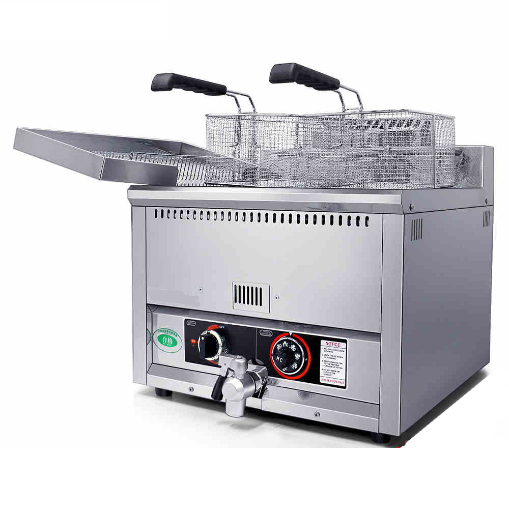 17L Commercial Countertop Gas Deep Fat Fryer _Gas Potato Chips Fryer_ Gas Fryer Machine shipule fast food restaurant 30l commercial electric chicken deep fryer commercial potato chips deep fryer frying machine