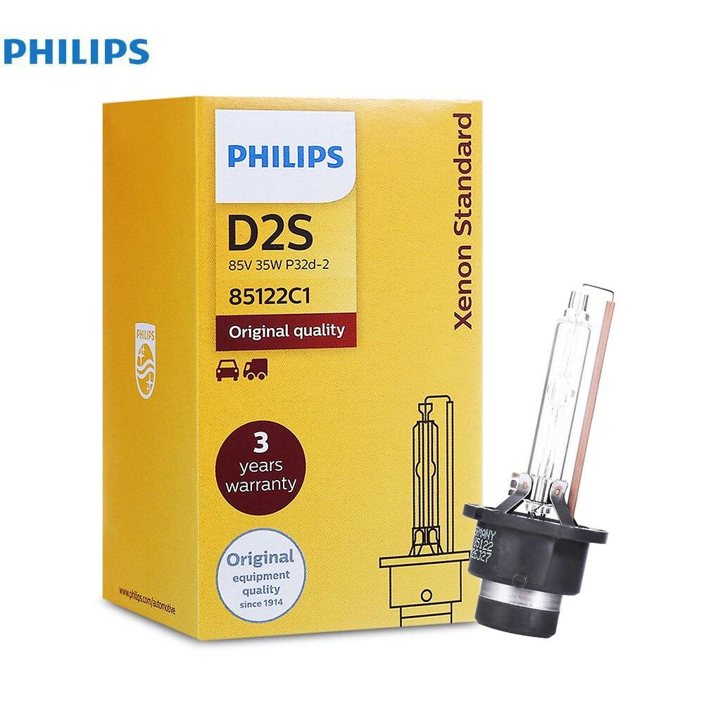 Philips D2S 12V Car Headlight 4200K 35W Standard Xenon Front Bulb Auto Automobiles Headlamp Head Lights