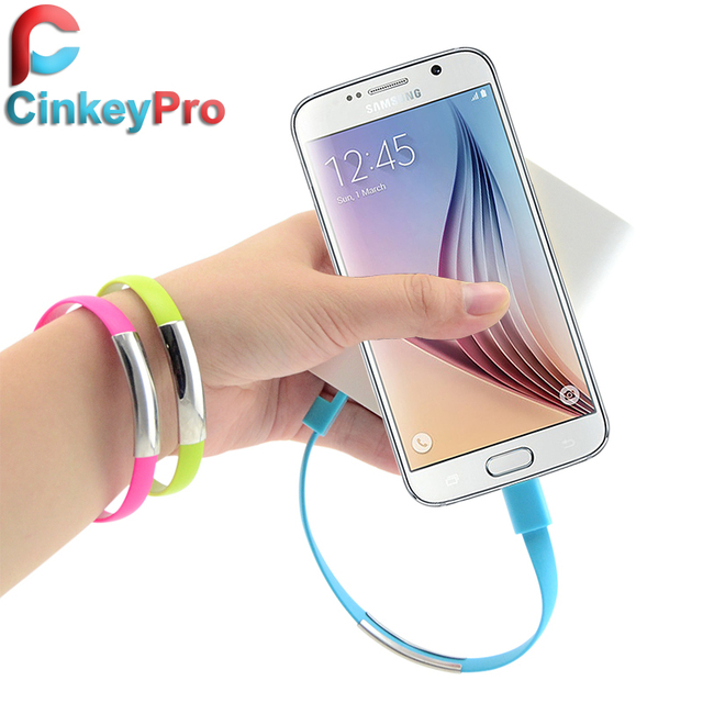 CinkeyPro New Arrival Bracelet Charger Mobile Phone Cables Micro USB Cable Data Charging For Samsung Android