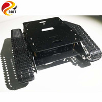 Official DOIT Caeser TS600 4WD Damping Tracked Metal Tank Car Chassis Smart Robot Toy Robotic Competition
