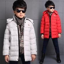 2016 Winter Boys Outerwear For Kids New Thickening Keep Warm Children Boys Long Jacket Clohting Winter