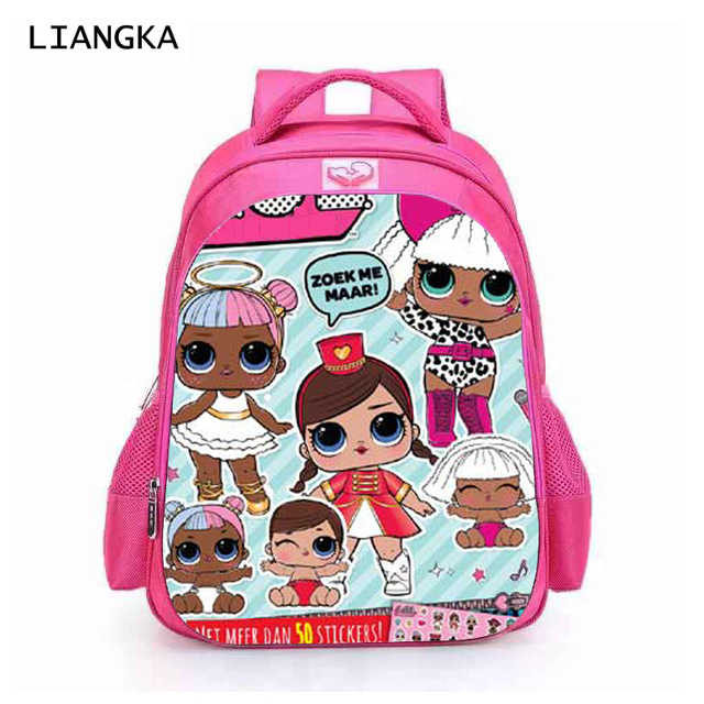 cbe34780fe LIANGKA Toddler Kids Cartoon LOL Dolls School Backpack LOL Gilitter Baby  Printed Orthopedic Schoolbag Girls Bookbag Mochila