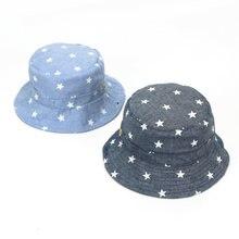 c628877402a ideacherry Baby Soft Cotton Summer Hat Infant Newborn Bucket Hat Denim  Cotton Toddler Kids Tractor Cap Boys Girls Star Sun Hat
