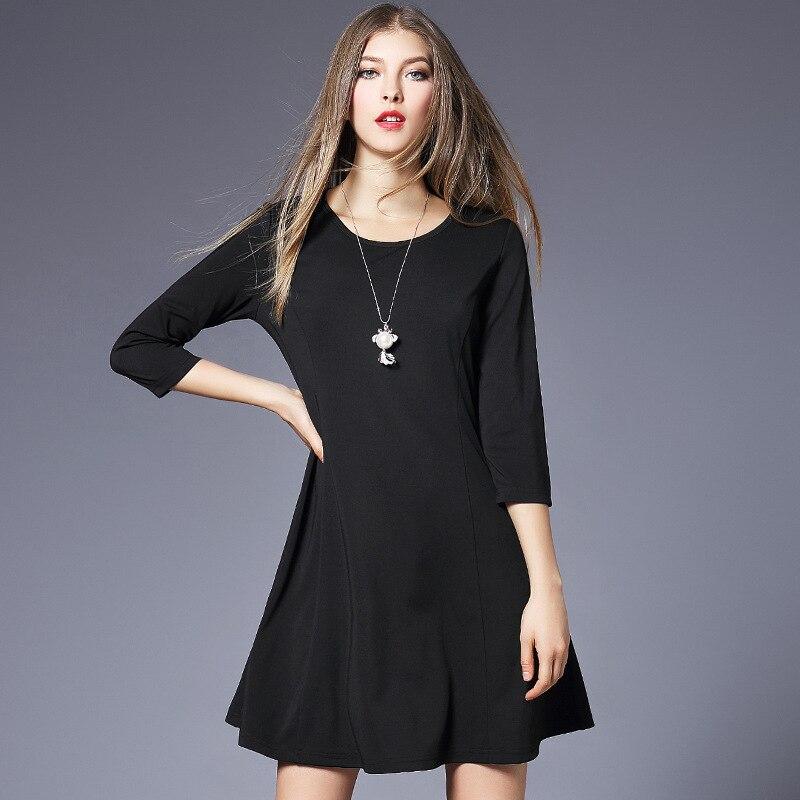 Velké dámy D6977001 tlusté MM jaro módní šaty 7 minut rukávu