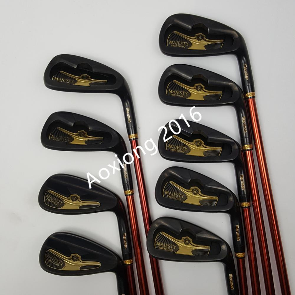 New Golf Clubs Maruman Majesty Prestigio 9 Golf Irons 5-10 P.A.S Irons Clubs Graphite Shaft R/S Flex  Free Shipping