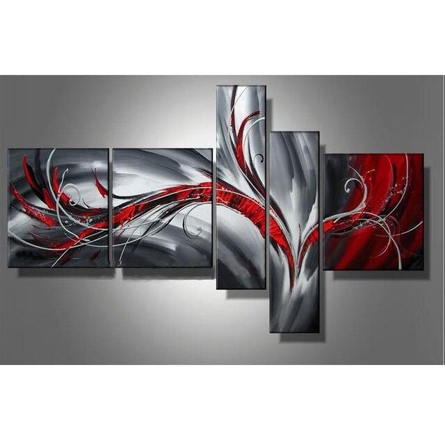 beste preis leinwand malerei abstrakte kunst 5 flugzeug wandkunst 100 handgemalte lgemlde hause wohnzimmer dekoration - Beste Wohnzimmer Wandkunst