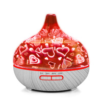 400mL Air Humidifier Essential Oil Aroma Aromatherapy Diffuser Umidificador Mist Maker Aromatizador Para Casa 7 Color Led Light