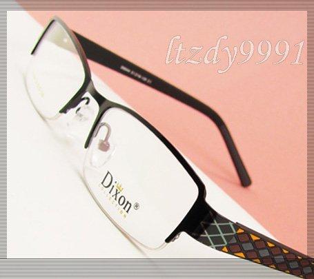 Llanta De Metal negro La Mitad de la Prescripción Óptica MARCOS de ANTEOJOS Hombres Gafas Para Mujer Gafas RX D9544 Spectacle Eyewear