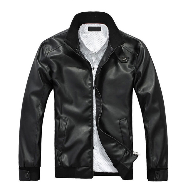 Genuine Leather Jacket 2016 New Arrival Brand Men's Leather Biker Jacket Man Coat male bomber  Men Winter Motorcycle Coat