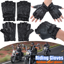 Gloves Fingerless Airsoft Knuckle Half Finger Outdoor Riding Camping Mountaineering Gloves Motorcycle Cycling VERSYS 650cc P30 outdoor cycling riding half finger gloves blue pair size xl
