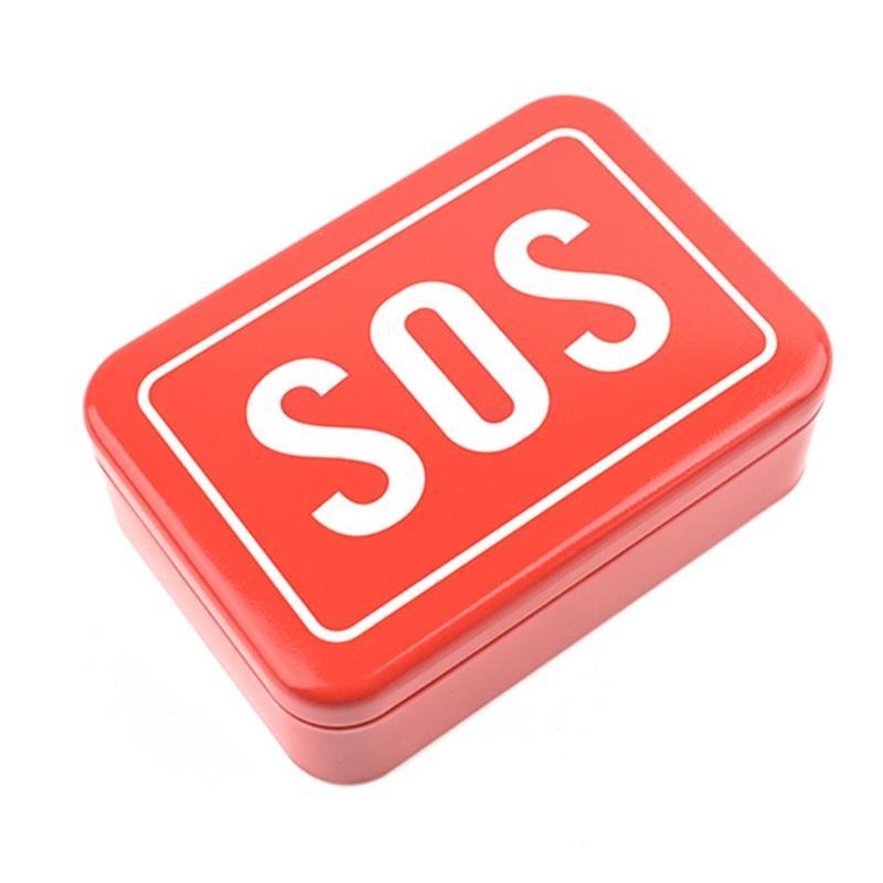 Mini SOS Survival Iron Box Field Survival Storage Kit Emergency Tool Storage Box For Outdoor Emergency Portable Multifunction
