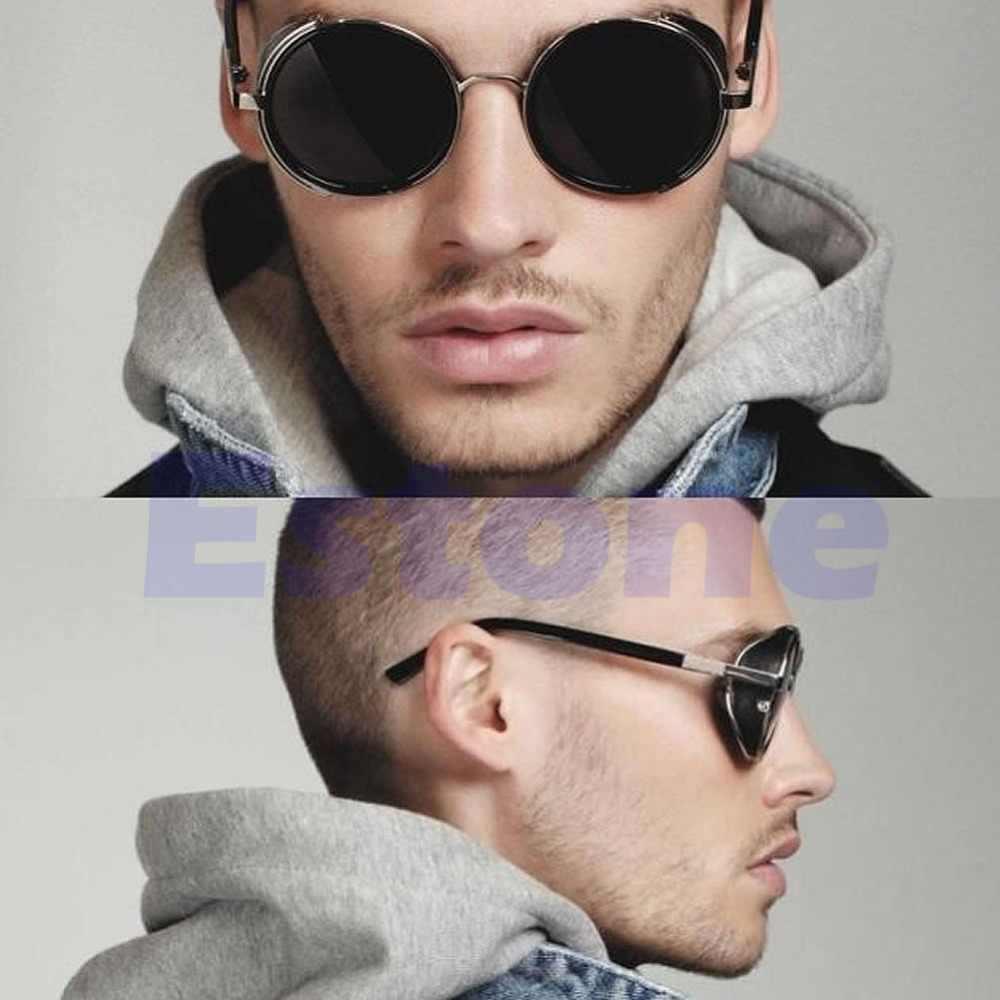 33145f5c68e ... Cyber Goggles Vintage Retro Blinder Steampunk Sunglasses 50s Round  Glasses ...