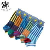 New Korean PIER POLO New Cotton Men S Socks 5 Pairs Of Color Striped Cotton Socks
