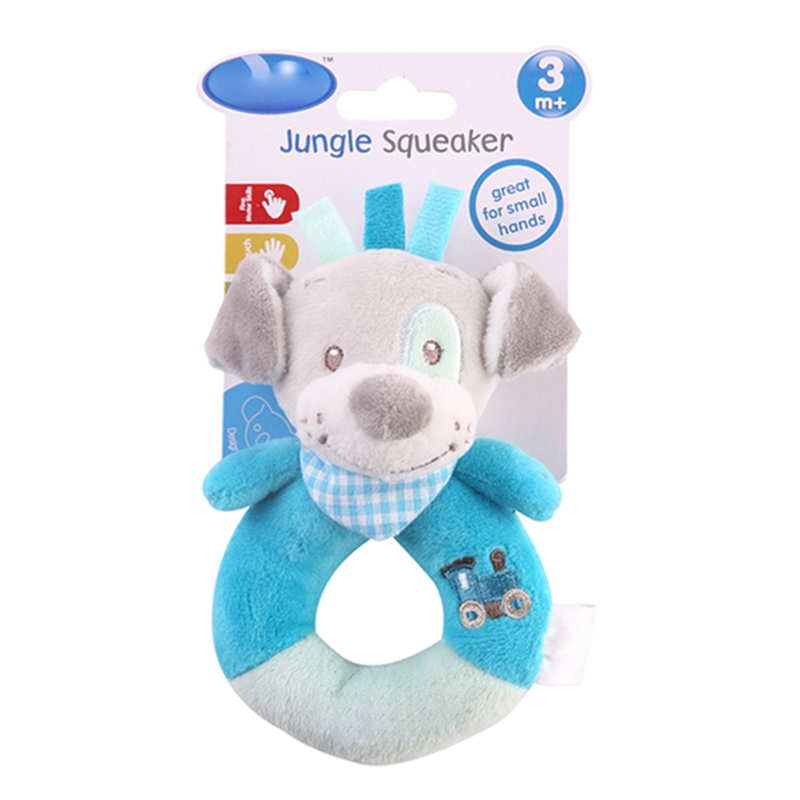 Newborn Baby Boys Girls Cartoon Animal Hand Rattle Toys Newborn Kids Soft Short Fluff Baby Rattles Toys