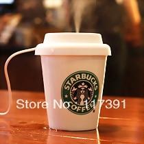 Starbucks Usb Mini Air Humidifier Home Office Desktop Fashion Ceramic Cup Free Shipping
