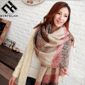 2016 New Brand Winter Scarf For Women Scarf Female Fashion Scarves Warm Soft Cashmere Bufandas Warm Plaid Shawl High Quality