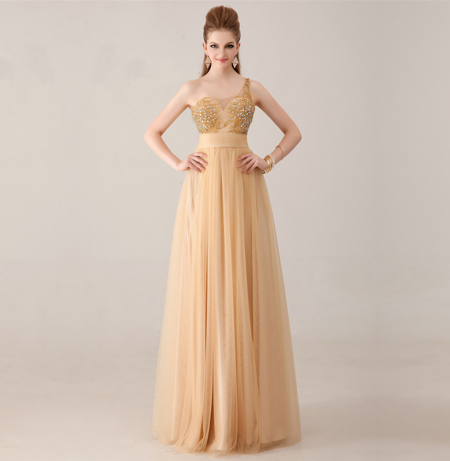 Online Get Cheap Champagne Color Prom Dresses -Aliexpress ...