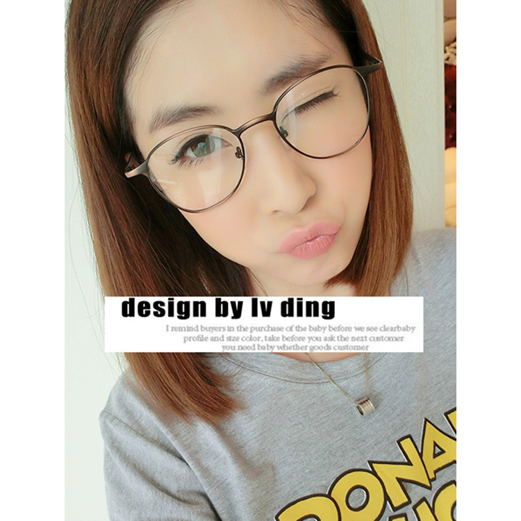 2015 full metal eyeglass frame retro patterns shipping 2189 men and women thin frame round glasses frame in eyewear frames from mens clothing accessories - Womens Metal Eyeglass Frames