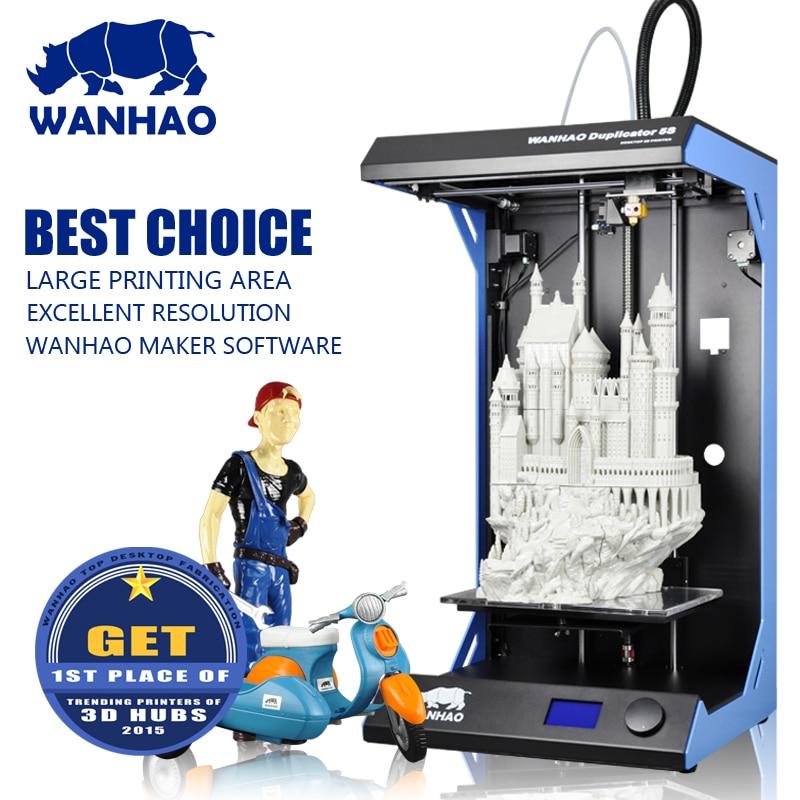 Lecai impresora 3d printer desktop 3d printer WANHAO Duplicator 5S big 3d printing machine factory direct