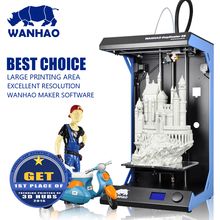 Lecai impresora 3d принтер/desktop 3d принтер, WANHAO Дубликатор 5S, большой 3d печатная машина, завод прямые продажи 3D принтер