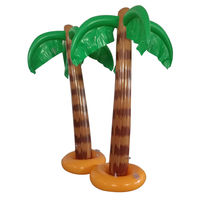 2x Inflatable Blow Up Palm Tree Hawaiian Tropical Pool Beach Party Decoration Unicorn Party Supplies Halloween Props