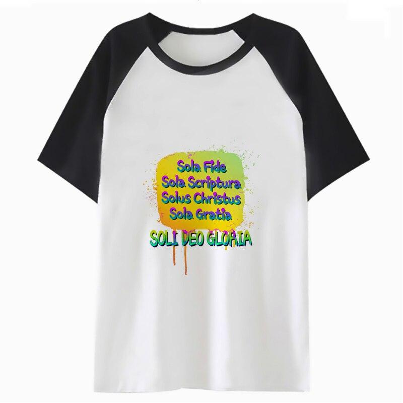 Christian 5 Solas t shirt hop men male streetwear tshirt tee t-shirt top harajuku clothing for funny hip F2171