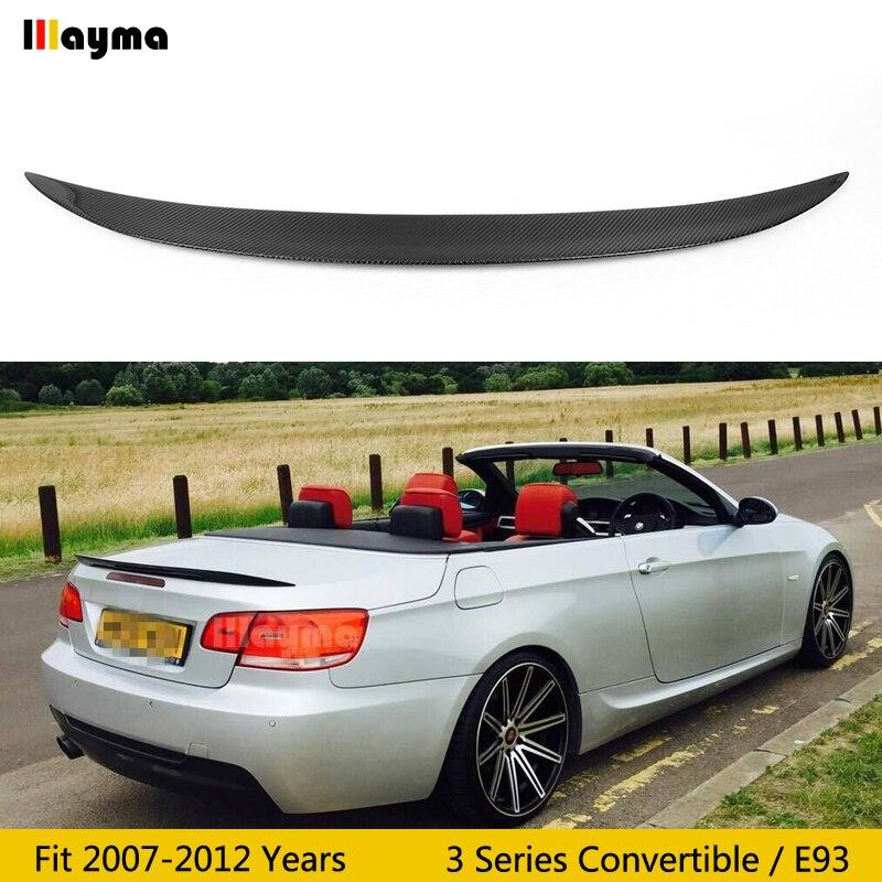 Per style Carbon Fiber rear trunk spoiler For BMW 3 Series convertible E93 320i 325i 330i