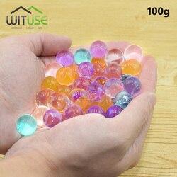 20mm 6000pcs Pearl Shape Crystal Soil Mud Hydrogel Gel Jelly Growing Glitter Water Balls Water Beads Set Wedding Home Decor