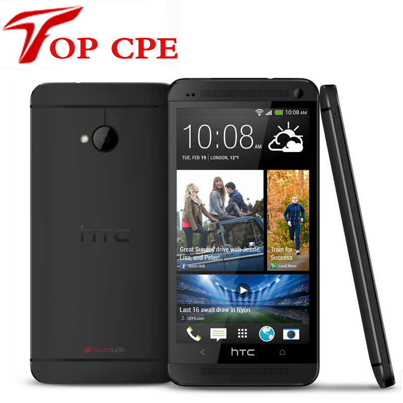 """Unlocked Original HTC One M7 801e 32GB Android 4.1 Quad-core 1.7GHz 4G LTE GPS WiFi 4.7"""" refurbished Mobile Phone drop shipping"""