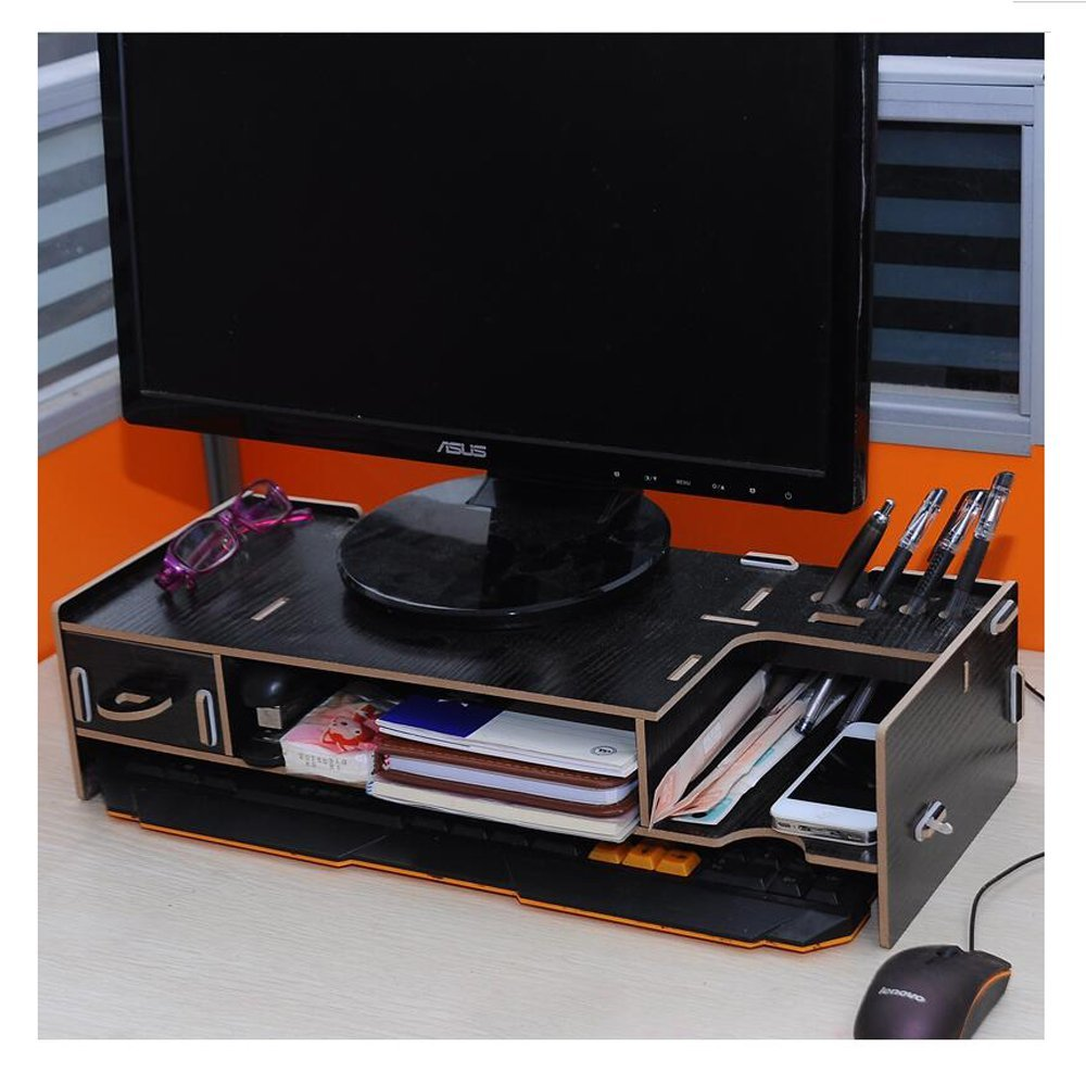 Monitor stand Monitor lift Desktop organizer Work space organizer Keyboard shelf