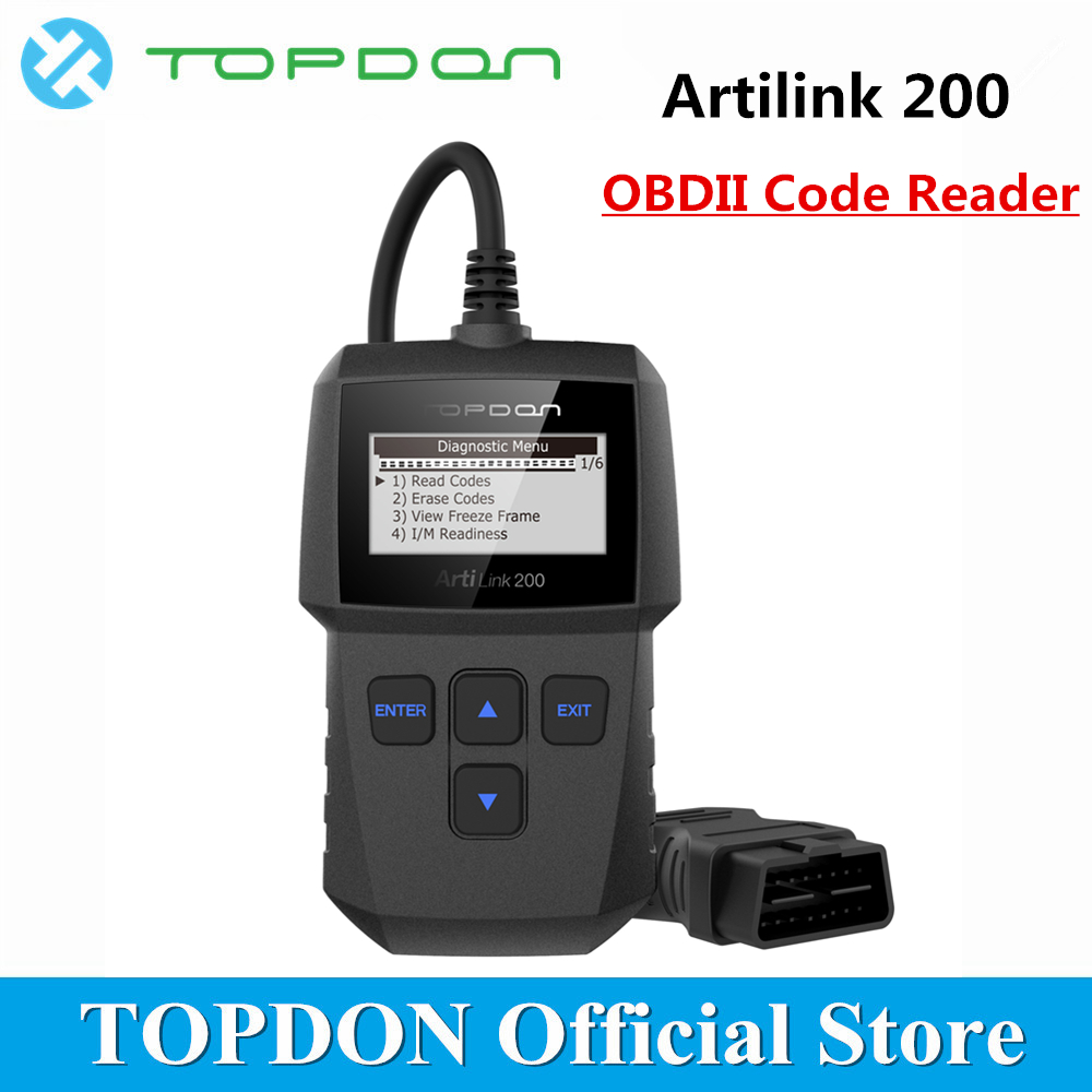 TOPDON ArtiLink 200 Automotive Diagnostic Tool Auto OBDII OBD2 Scanner Mechanic Autoscanner for OBD 2 II Car X431 Creader 3001TOPDON ArtiLink 200 Automotive Diagnostic Tool Auto OBDII OBD2 Scanner Mechanic Autoscanner for OBD 2 II Car X431 Creader 3001