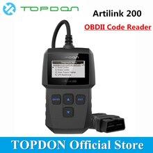 TOPDON ArtiLink 200 автомобильный диагностический инструмент АВТО OBDII OBD2 сканер механик Автосканер для OBD 2 II автомобиля X431 Creader 3001