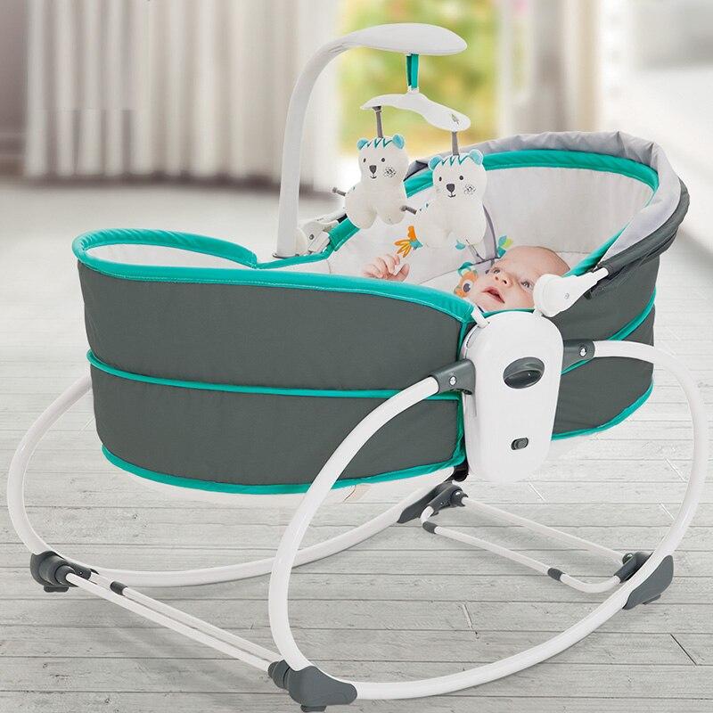 Berceau de vibration de berceau de bébé électrique dans le lit le fauteuil à bascule peut faire le panier inclinable de secoueur trois fonctions facultatives