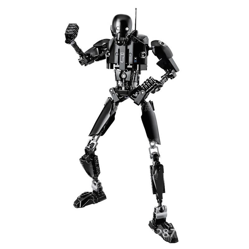 Звездные войны сборная фигура строительный блок Штурмовик Дарт Вейдер Kylo Ren Chewbacca Boba Jango Фетт фигурка игрушка для детей - Цвет: K 2SO