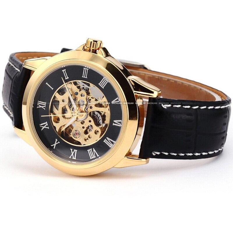 Shenhua Mens Watches Jenama Mewah Emas Jam Tangan Automatik Mekanikal - Jam tangan lelaki - Foto 6