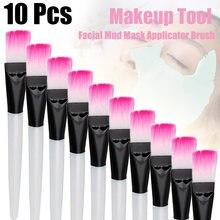 10pc máscara facial escova pincéis de maquiagem olhos rosto cuidados com a pele máscaras aplicador cosméticos máscara escova ferramentas alça clara #88767