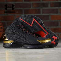 2019 Under Armour Shoes Sneakers Men SHOE PALACE X UA CURRY 1 SP Basketball Shoes Black Gold Light and high zapatos hombre shoes