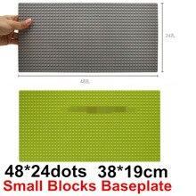 Wange 3pcs/lot 48*24 Small particles Blocks Baseplates 38*19cm Minifigures Bricks particles Base plate Toy brinquedos legeod