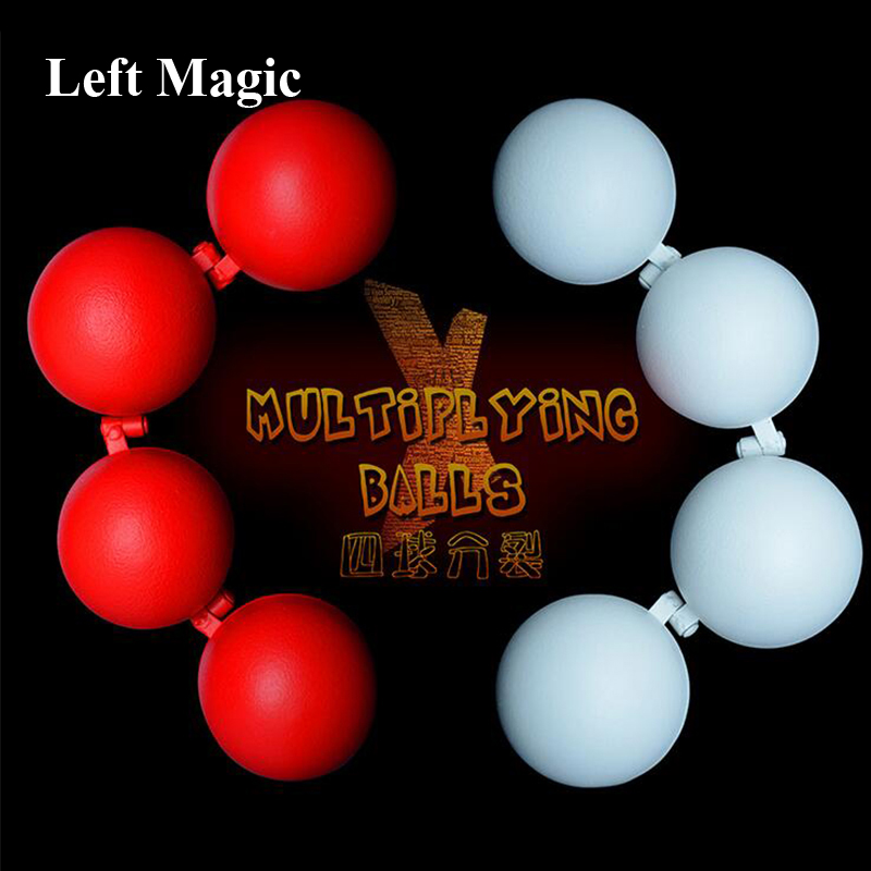Multiplying Balls ( Metal, Red/White Color ) - Magic Tricks One To Four Balls Stage Magic Accessories Magician Magic Props