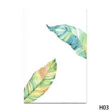 1pc Watercolor Tropical Plant Leaves Minimalist Art Canvas Poster Painting Nature Wall Picture Modern Home Office Room Deco