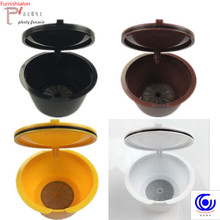 cute 3 pcs / pack use 150 times Dolce Gusto Coffee Capsule Plastic Refillable Reusable Compatible with Nescafe refill