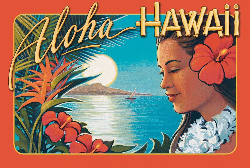 vintage hawaii travel tourism hawaii aloha girl retro poster canvas painting diy wall paper posters home decor gift