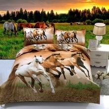 hot 3d animal bedding set queen full twin size 3 pcs horse duvet cover font b