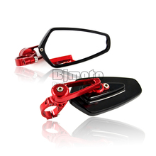 Hot Sale ONE Pair Billet Aluminum Motorcycle Rearview Mirror Scooter Parts Motorcycle Accessories For Kawasaki Yamaha Suzuki
