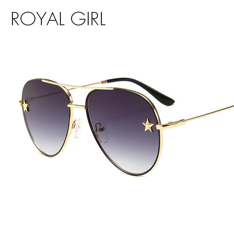 ROYAL GIRL Retro Cat Eye Sunglasses Women Men 2018 Sexy Square Big Frame  Sun Glasses Eyewear oculos de sol ... 1b8438545b