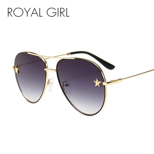 43c6aa6588 ROYAL GIRL Vintage Oval Sunglasses Women 2018 Brand Designer Pentagram Sun  Glasses Men Double Bridge Metal