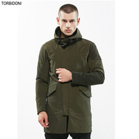 New Mens Spring Casual Jackets Men Autumn Hooded Trench Coat Slim Fit Army Green Fashion Coats Solid Brand Clothing Veste Homme