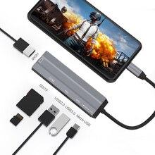 AIXXCO USB HUB USB C để HDMI SD/TF đối với MacBook Samsung Galaxy S10 Huawei Mate 20 P20 Pro loại C USB 3.0 HUB