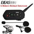 Nova Chegada 1200 M Capacete Da Motocicleta Bluetooth Intercom para 6 Riders BT Intercomunicador Sem Fio Fones de ouvido do Capacete Interfone